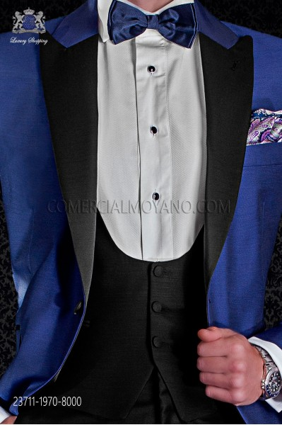 Black groom waistcoat with 4 buttons