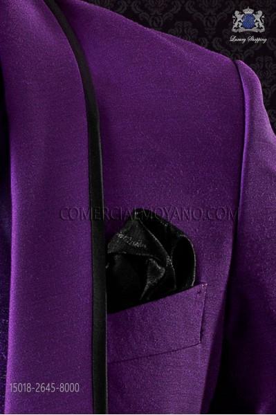 Black lurex handkerchief 15018-2645-8000 Ottavio Nuccio Gala.