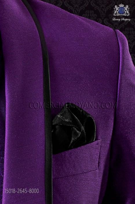 Black lurex handkerchief 15018-2645-8000 Ottavio Nuccio Gala