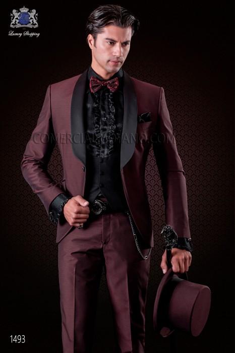 purpurrot italienische br utigam smoking anzug ottavio nuccio gala. Black Bedroom Furniture Sets. Home Design Ideas