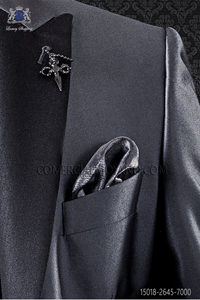Gray lurex handkerchief 15018-2645-7000 Ottavio Nuccio Gala
