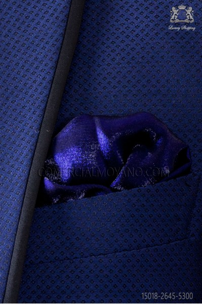 Blue lurex handkerchief 15018-2645-5300 Ottavio Nuccio Gala.
