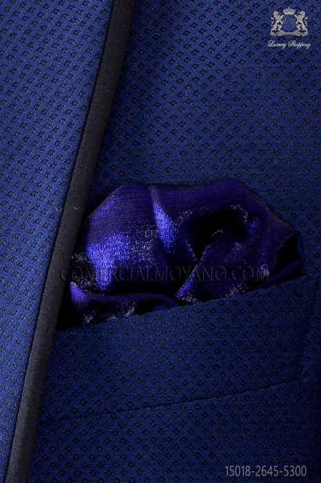 Electric Blue lurex handkerchief 15018-2645-5300 Ottavio Nuccio Gala