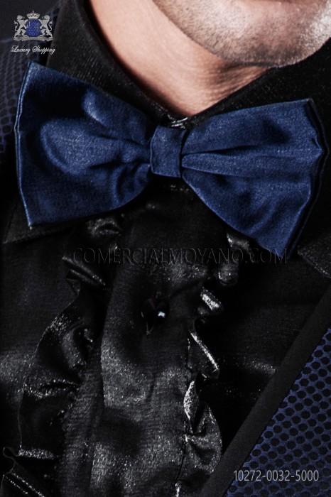 Blue satin bow tie 10272-0032-5000 Ottavio Nuccio Gala