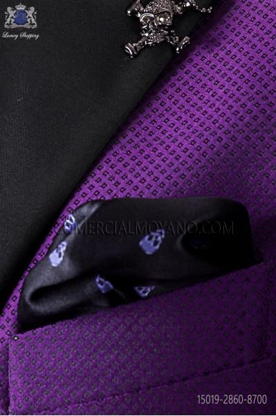 Pañuelo de bolsillo calaveras en negro 15019-2860-8700 Ottavio Nuccio Gala.