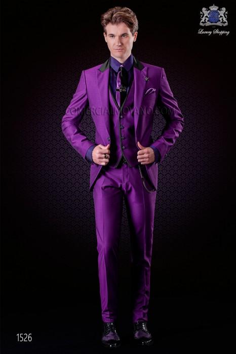 italienische purpur br228utigam anzug 3teilig ottavio nuccio