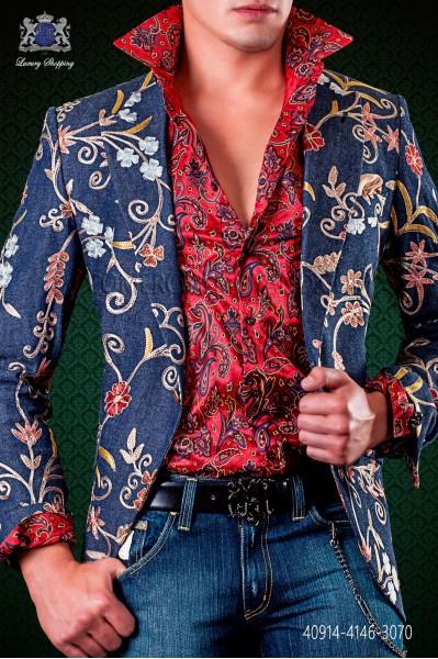 Red shirt paisley fabric
