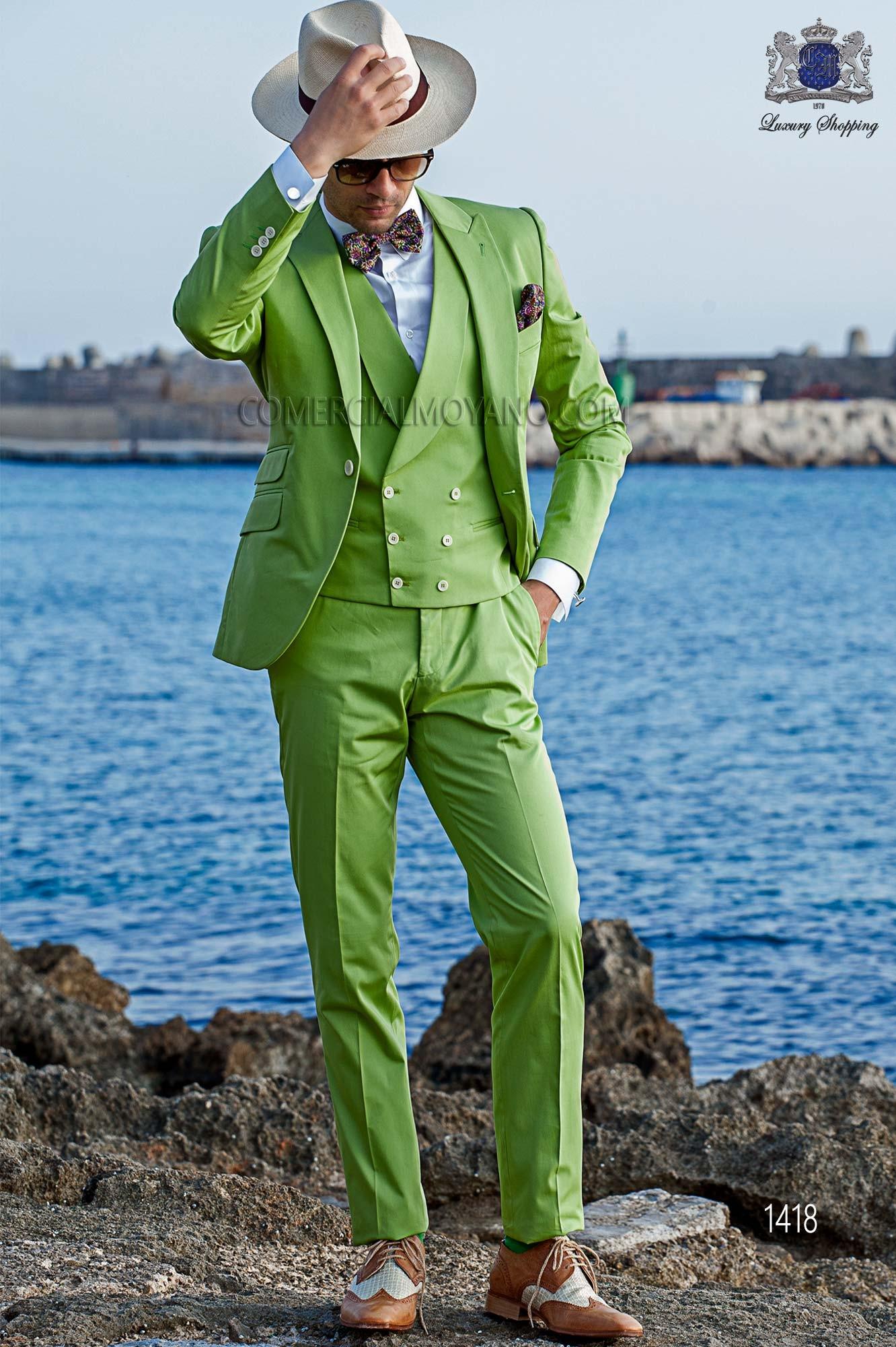 Suit modern boyfriend, green, Italian cut Ottavio Nuccio Gala