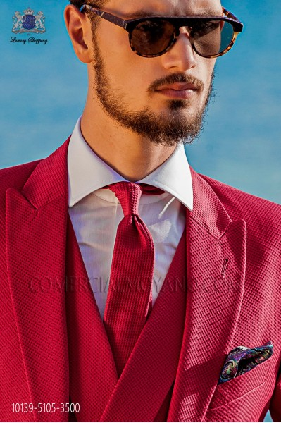 Fuchsia cotton tie