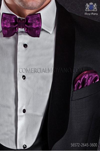 Fuchsia lurex bow tie and hanky 56572-2645-3600 Ottavio Nuccio Gala.