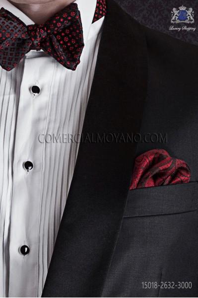 Red silk pocket handkerchief