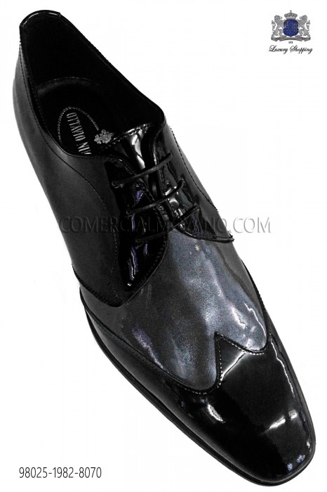Gray black patent leather shoes 98025-1982-8070 Ottavio Nuccio Gala