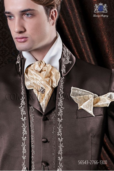 Cream foulard and handkerchief lace