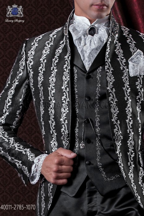 White shirt with lace cuffs