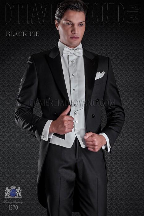 Frac de novio en color negro. Elegancia y excelencia en el vestir de noche para caballeros