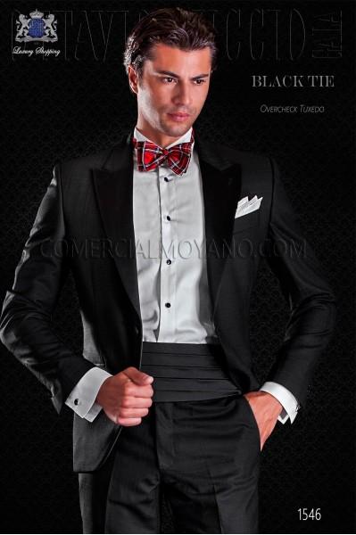 Groom tuxedo black. Elegance and excellence in evening dress for men.