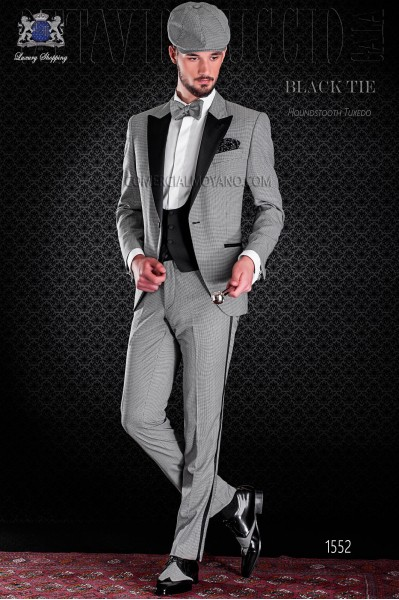 Groom tuxedo leg rooster design. Elegance and excellence in evening dress for men