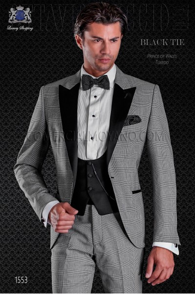 Italian prince of wales tuxedo. Elegance and excellence in evening dress for men
