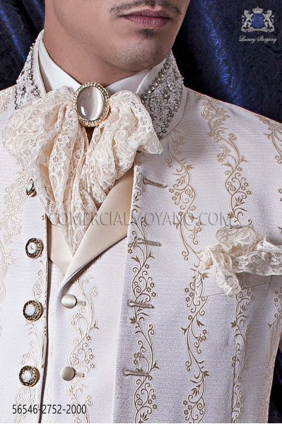 Gold lace plastron