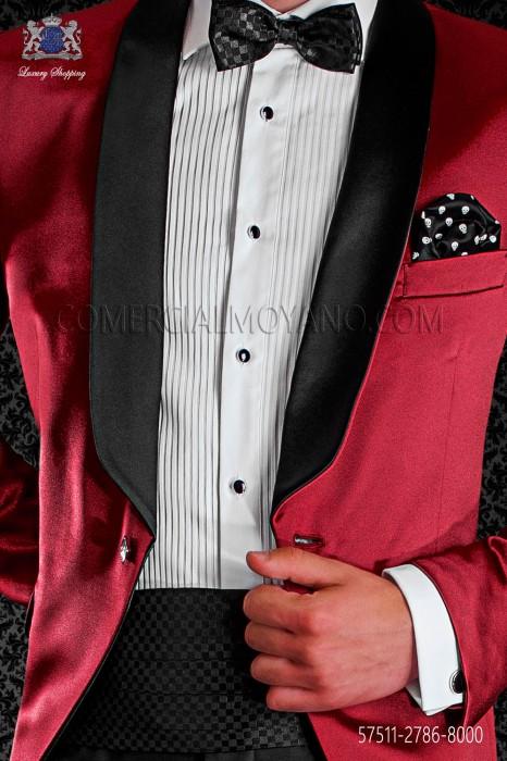 Dama tissue cummerbund and bow tie
