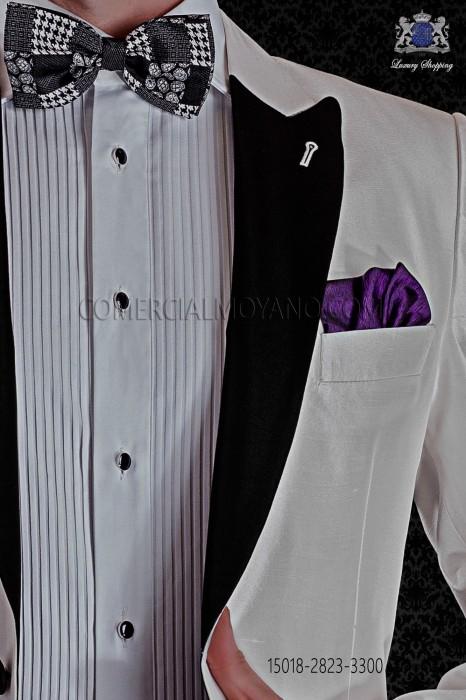Purple silk pocket handkerchief