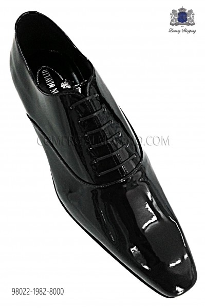 "Zapatos ""francesina"" cordones charol negro 98022-1982-8000 Ottavio Nuccio Gala"