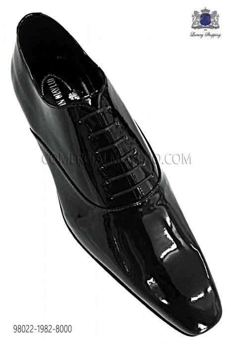 Black patent leather Francesina shoes 98022-1982-8000 Ottavio Nuccio Gala