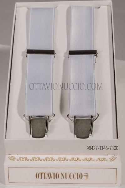 Pearl gray suspenders 98427-1346-7300 Ottavio Nuccio Gala