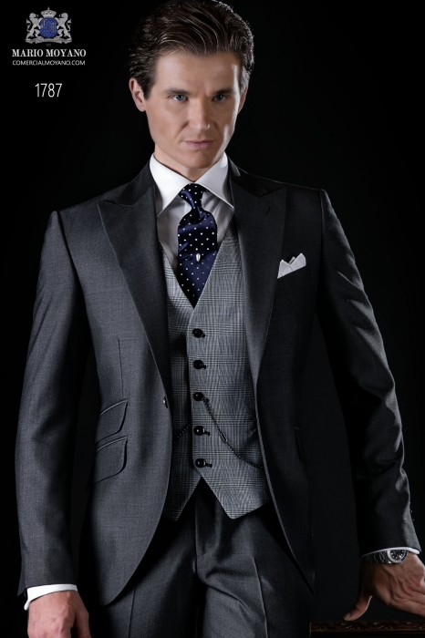 Bespoke anthracite grey suit mohair wool alpaca