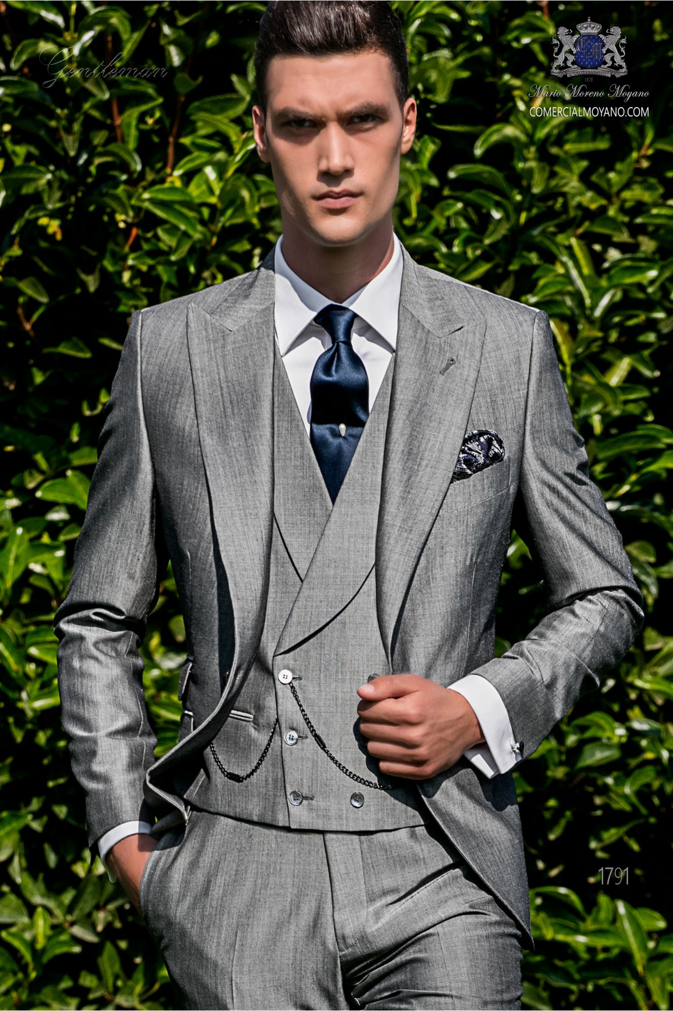 Bespoke light grey suit mohair wool mix alpaca model 1791 Ottavio Nuccio Gala