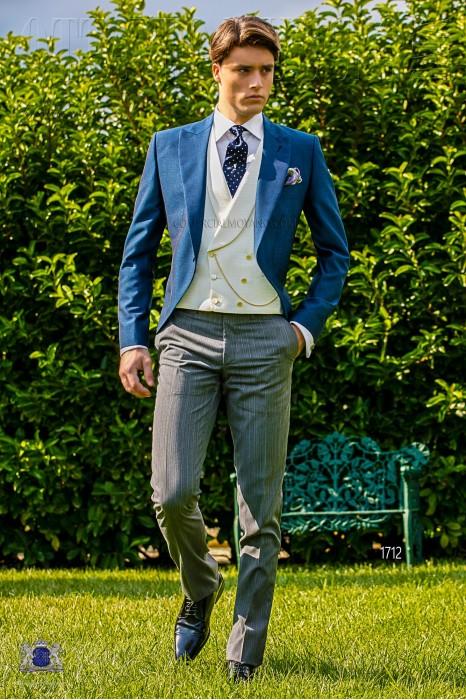 royal blue morning suit mohair wool alpaca ottavio nuccio gala. Black Bedroom Furniture Sets. Home Design Ideas