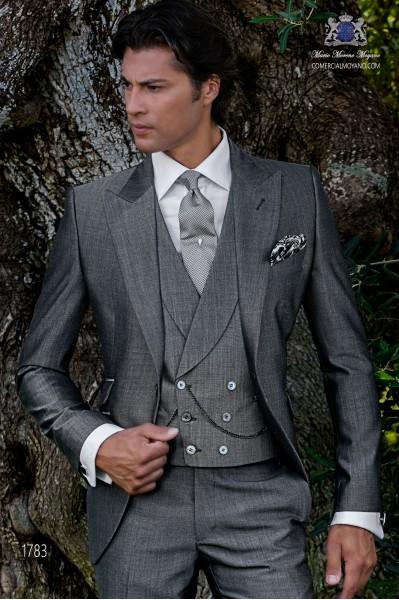 Traje de novio gris mixto lana mohair alpaca