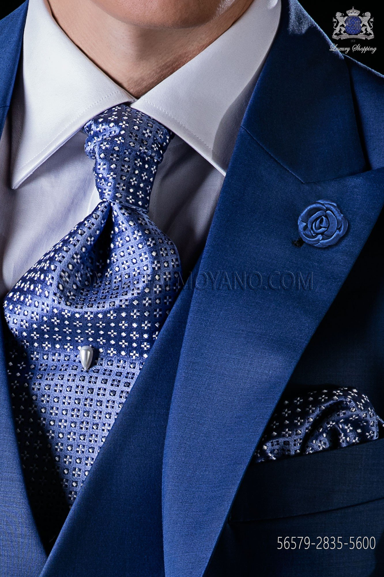 4969369cd77d Light blue silk tie and matching pocket square. Loading zoom