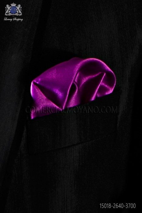 Fuchsia satin pocket square