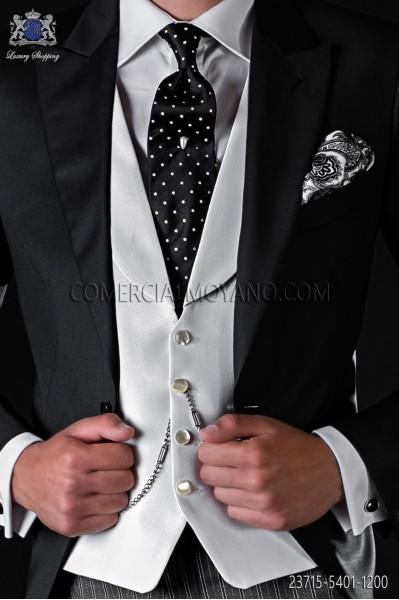 White groom's waiscoat in plain false