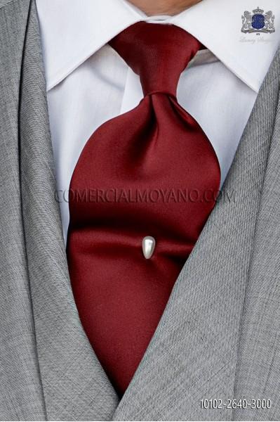 Garnet Satin tie