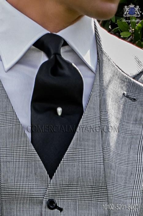 Black Satin Italian tie