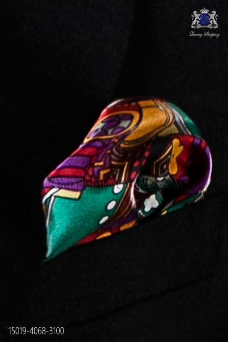 Fantasy pure silk pocket handkerchief
