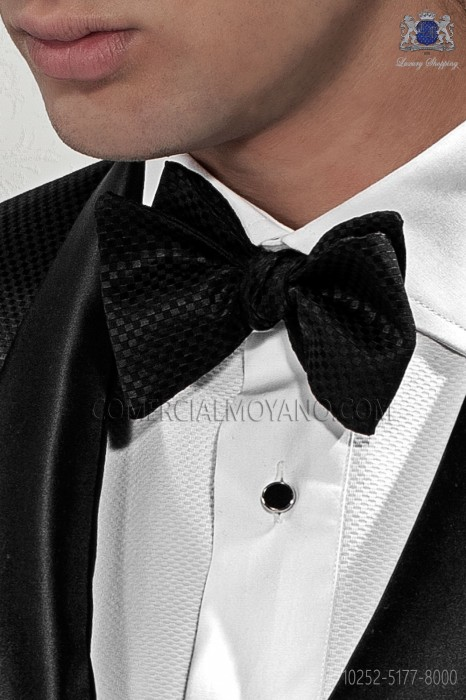 White knot bow tie Damas design