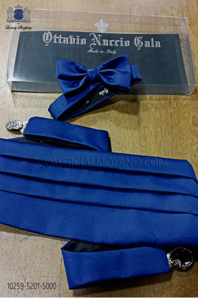Royal blue satin sash