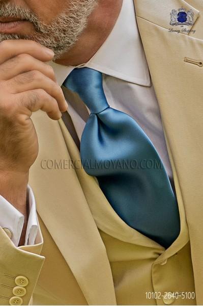 Light blue satin tie