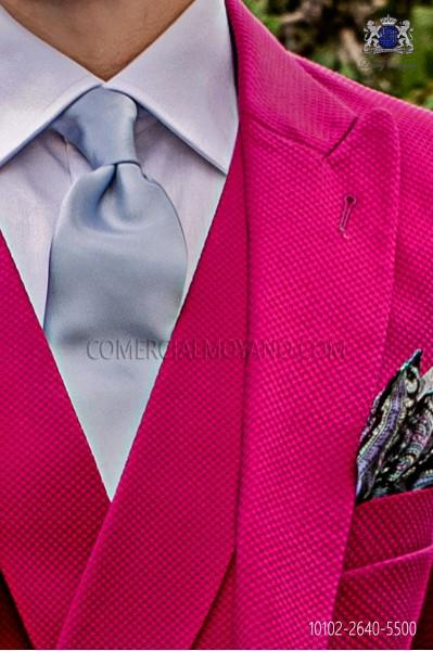 Light blue satin groom tie