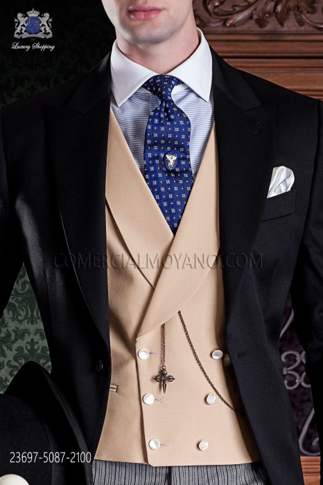 Albero groom double-breasted waistcoat