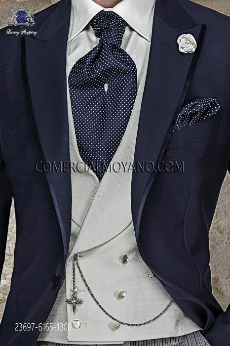 Ivory double-breasted waistcoat