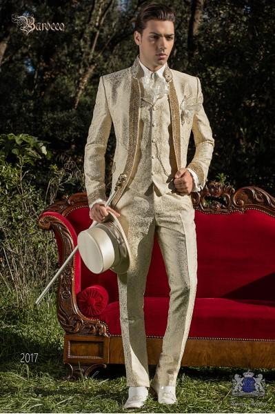 Brautigam Barock Stil Und Gotischer Stil Golden Longsakko Anzuge