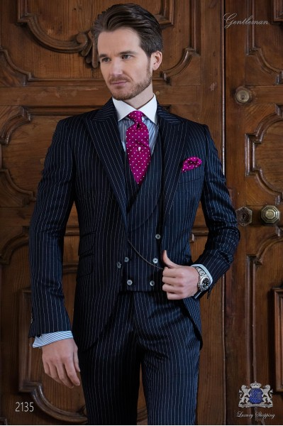 Navy blue diplomatic italian suit