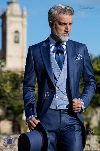Royal blaue Cut Anzug aus cool Wollmischung