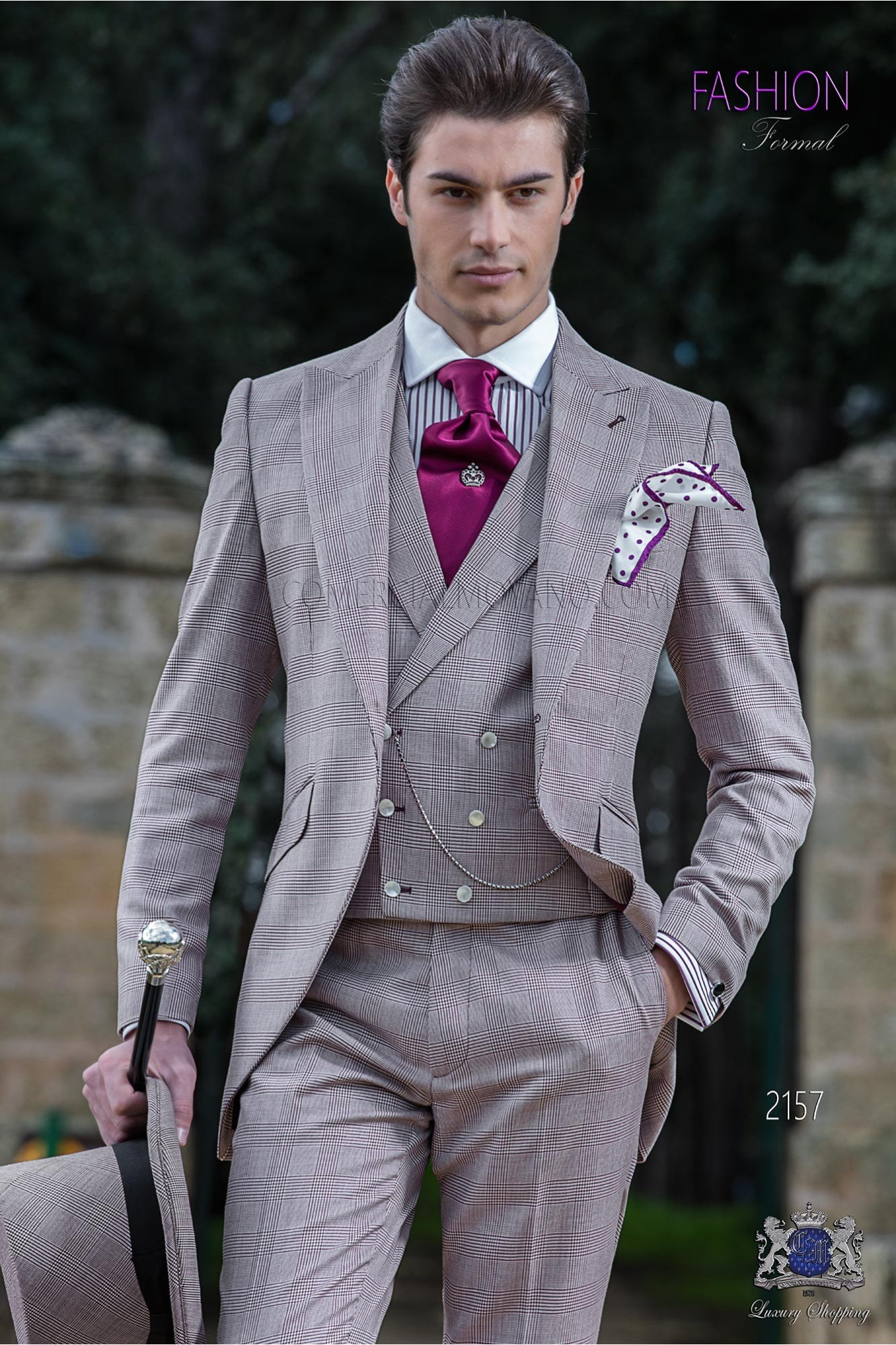 Traje de novio semilevita de novio príncipe de gales borgoña