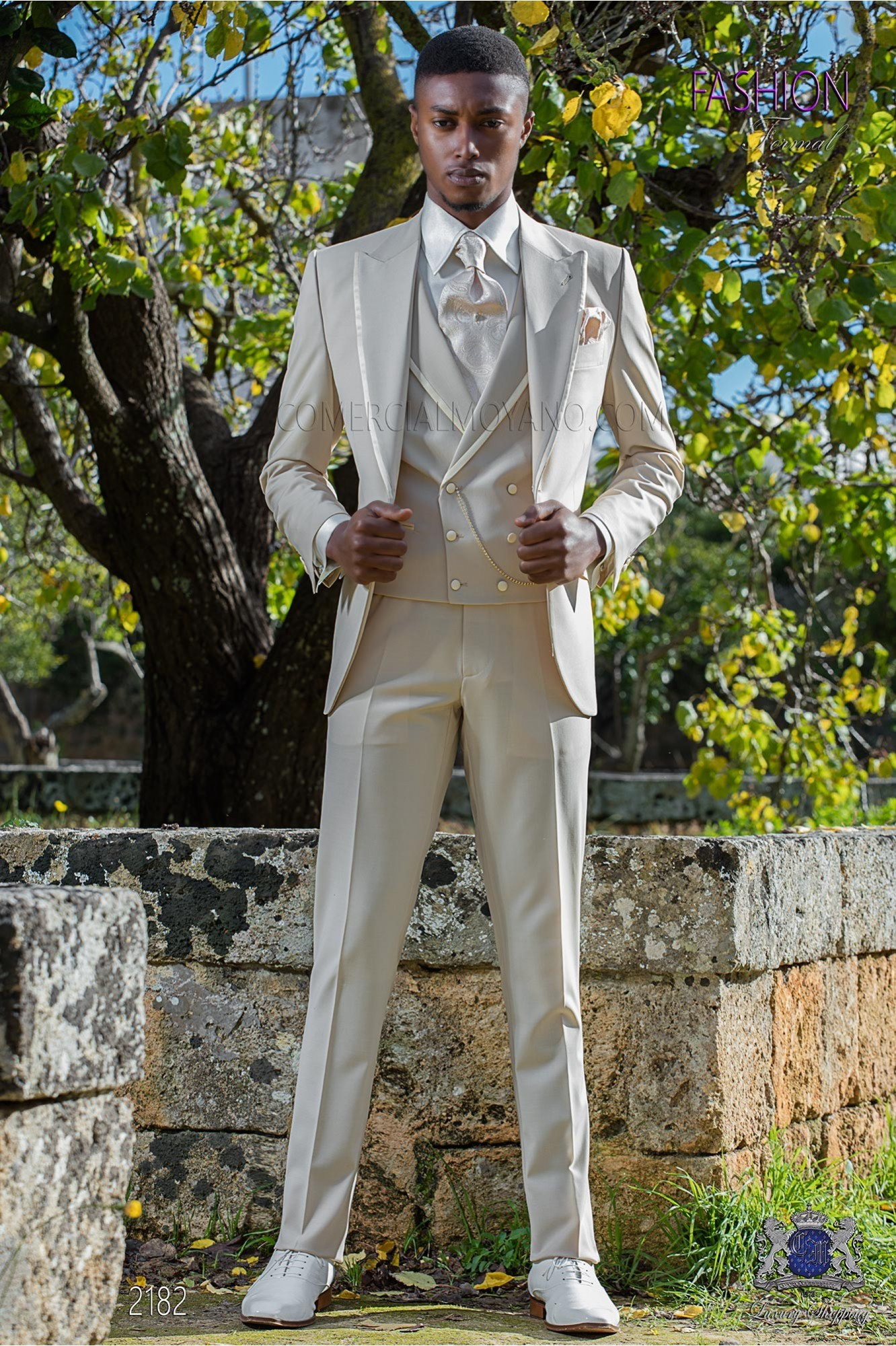 Italian bespoke suit beige cool wool mix model 2182 Ottavio Nuccio Gala