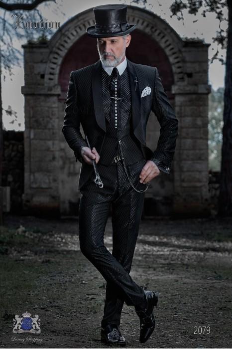 Fashion bespoke tuxedo black with shawl collar